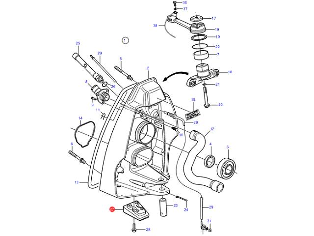 mercruiser pre alpha outdrive diagram luxury exploded view