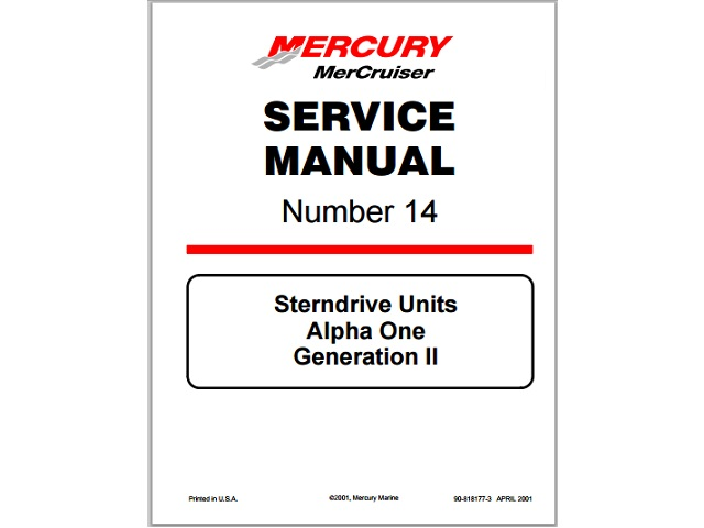 Mercruiser Alpha One Outdrive Service Manual User Guide Manual